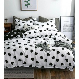 Lenjerie din finet gros 6 piese  Black and white hearts