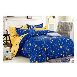 Lenjerie din finet gros 6 piese  Blue and yellow stars